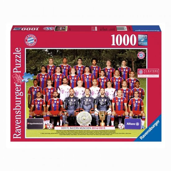 Puzzle 1000 pièces : FC Bayern M. Saison 2014/2015 - Ravensburger-19387