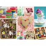 Puzzle 1000 pièces : Fleurs et couleurs