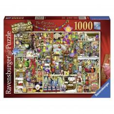 Puzzle 1000 pièces : La bibliothèque de Noël