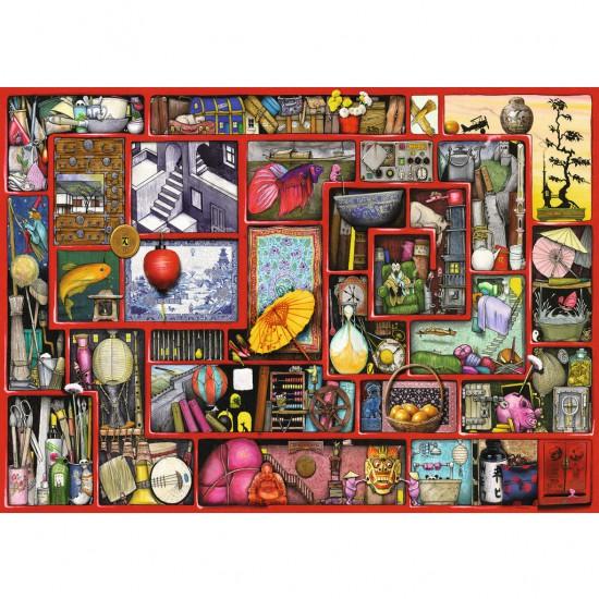 Puzzle 1000 pièces : La boîte rouge - Ravensburger-19398