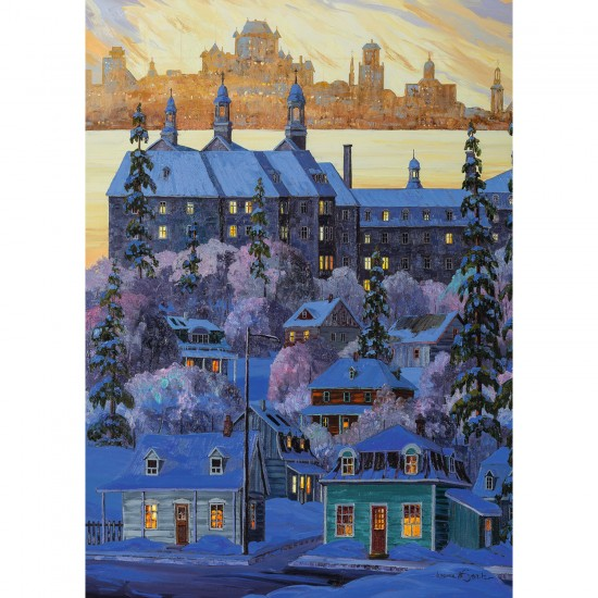 Puzzle 1000 pièces : La vue de Québec de Lévis - Ravensburger-19623