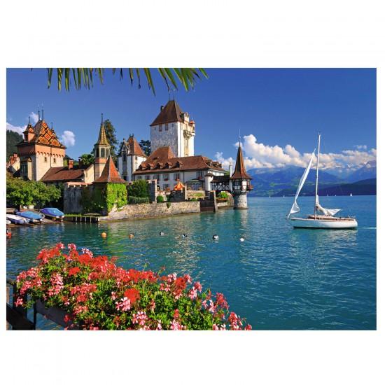 Puzzle 1000 pièces : Lac de Thoune, Berne - Ravensburger-19139
