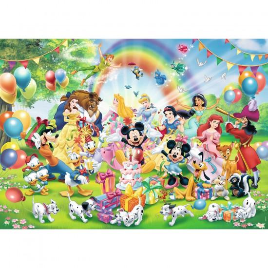 Puzzle 1000 pièces : L'anniversaire de Mickey - Ravensburger-19019