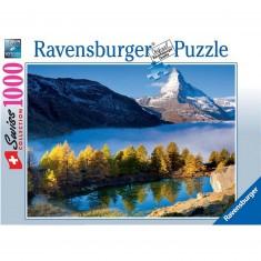 Puzzle 1000 pièces : Le Cervin et le Lac Grindjisee