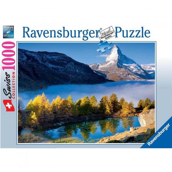 Puzzle 1000 pièces : Le Cervin et le Lac Grindjisee - Ravensburger-19350