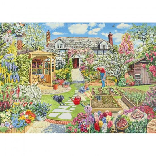 Puzzle 1000 pièces : Le jardin au printemps - Ravensburger-19108