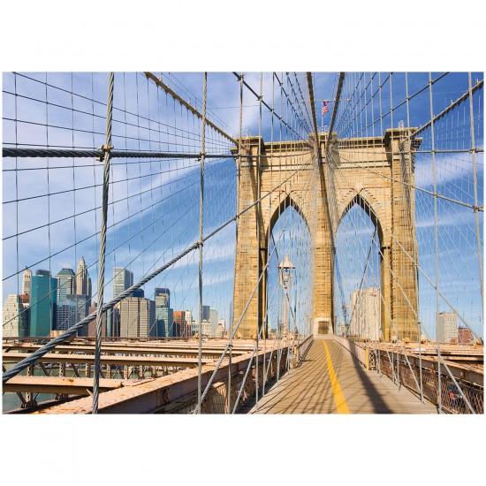 Puzzle 1000 pièces : Le pont de Brooklyn - Ravensburger-19424