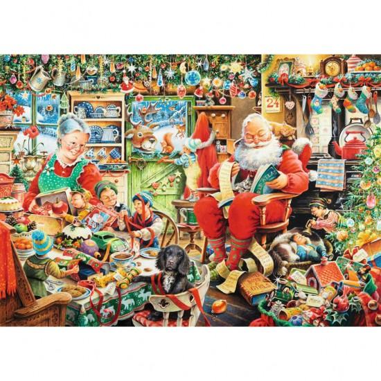 Puzzle 1000 pièces : Les derniers préparatifs de Noël - Ravensburger-19558