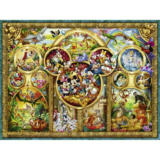 Puzzle 1000 pièces : Les plus beaux thèmes Disney - Ravensburger-15266