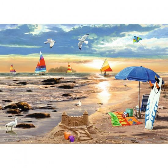 Puzzle 1000 pièces : L'été à la plage - Ravensburger-19527