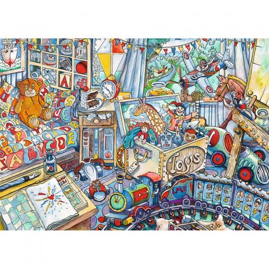 Puzzle 1000 pièces : Méli-mélo de jouets - Ravensburger-19521