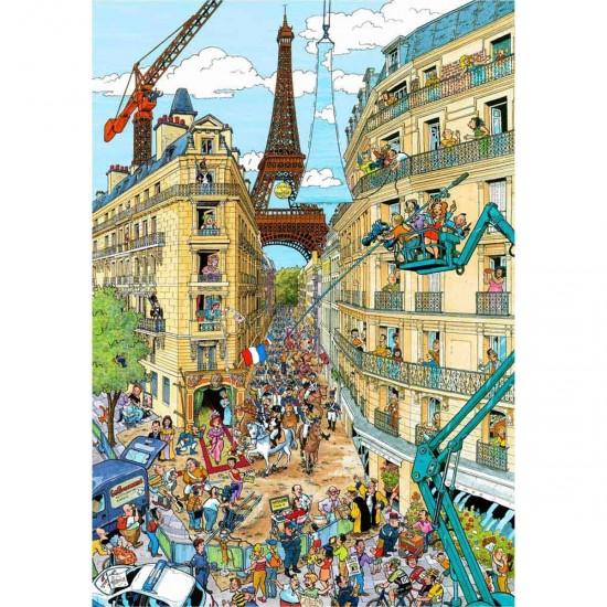 Puzzle 1000 pièces : Paris, Frans Le Roux - Ravensburger-19503