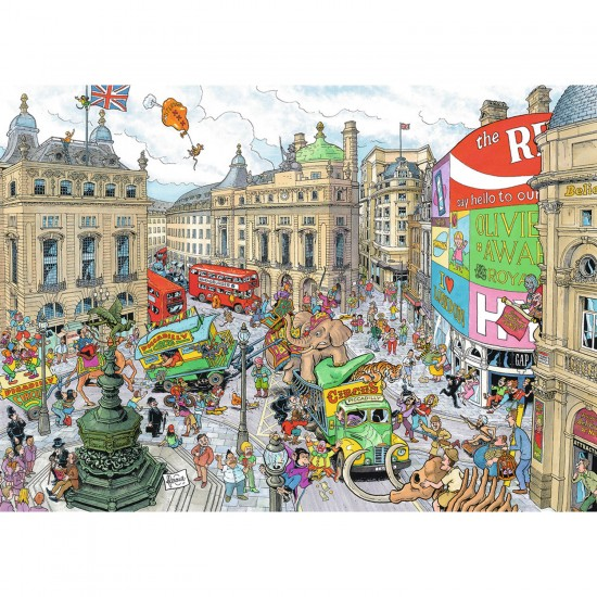 Puzzle 1000 pièces : Piccadily Circus - Ravensburger-19213