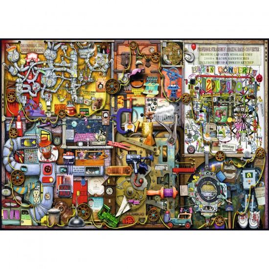 Puzzle 1000 pièces : Placard des inventions - Ravensburger-19597