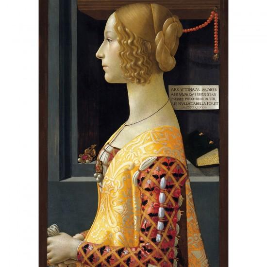Puzzle 1000 pièces : Portrait de Giovanna Tornabouni - Ravensburger-19421