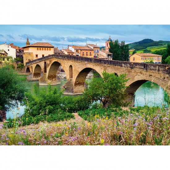 Puzzle 1000 pièces : Puente la Reina, Espagne - Ravensburger-19425