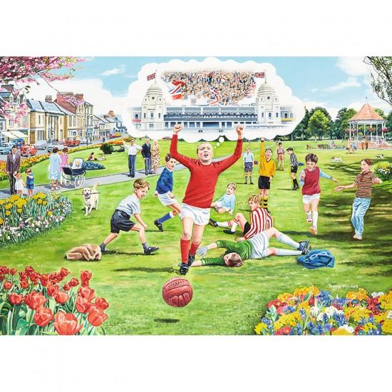 Puzzle 1000 pièces : Rêves de Wembley - Ravensburger-19495