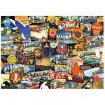 Puzzle 1000 pièces : Road Trip Usa