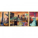 Puzzle 1000 pièces : Triptyque : New York en lumière