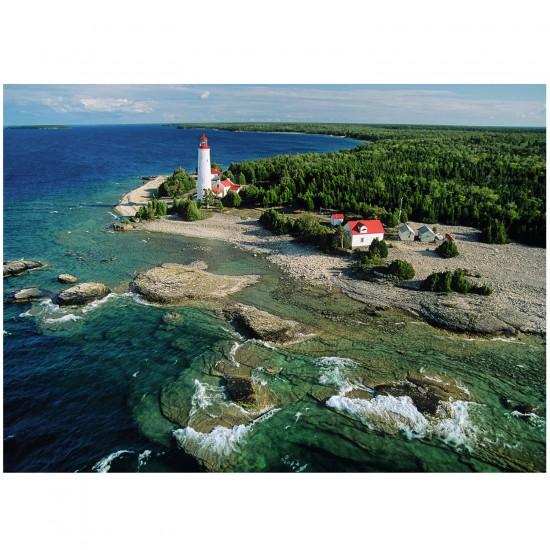 Puzzle 1000 pièces : Un phare à la péninsule de Bruce, Canada - Ravensburger-19152