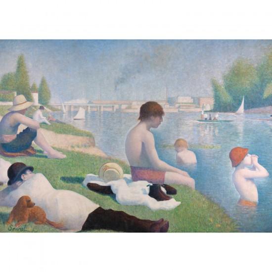Puzzle 1000 pièces : Une baignade à Asnières - Ravensburger-19594