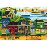 Puzzle 1000 pièces : Village en bord de mer
