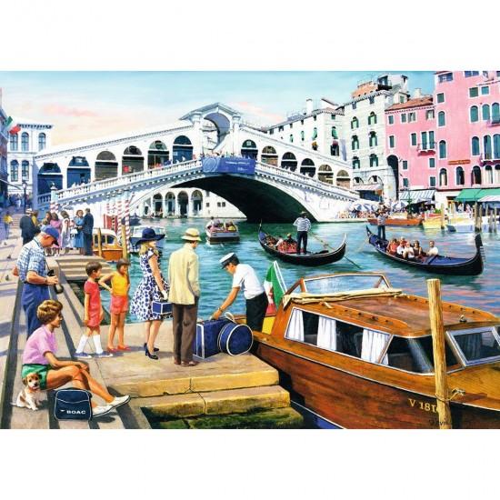 Puzzle 1000 pièces : Vintage Venise - Ravensburger-19476