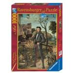 Puzzle 1000 pièces : Vittore Carpaccio : Portrait d'un jeune chevalier dans un paysage