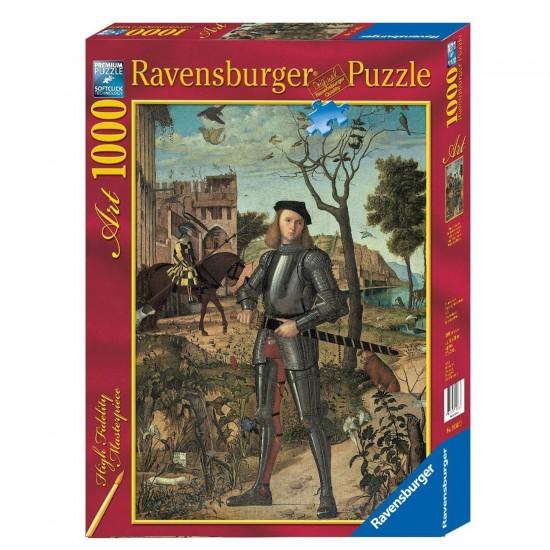 Puzzle 1000 pièces : Vittore Carpaccio : Portrait d'un jeune chevalier dans un paysage - Ravensburger-19307