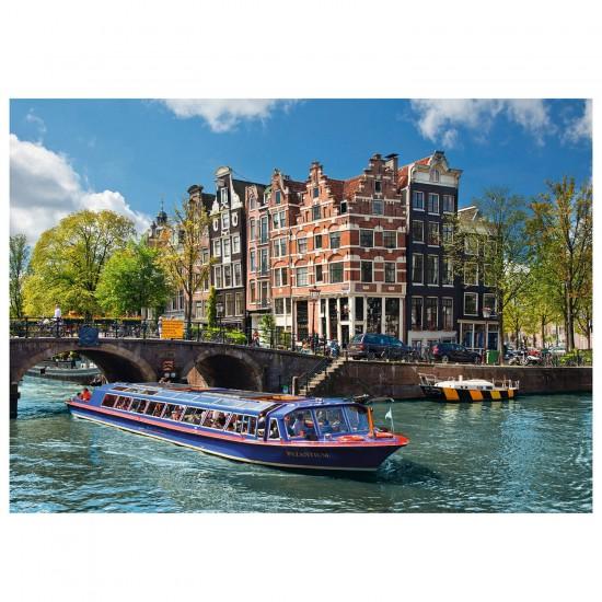 Puzzle 1000 pièces : Voyage à Amsterdam - Ravensburger-19138