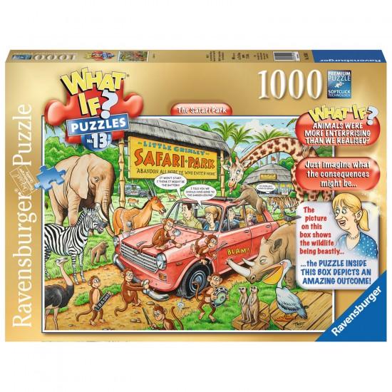 Puzzle 1000 pièces : What if ? : Parc safari - Ravensburger-19550