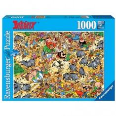 Puzzle 1000 pièces - Asterix : Chasse aux sangliers