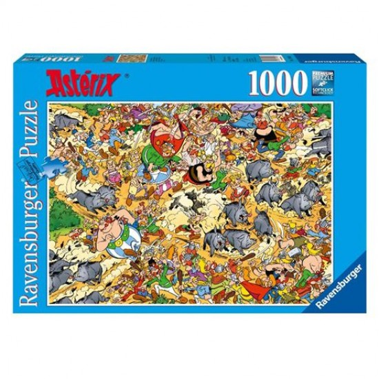 Puzzle 1000 pièces - Asterix : Chasse aux sangliers - Ravensburger-153701-1