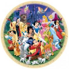 Puzzle 1000 pièces rond - Le monde merveilleux de Disney