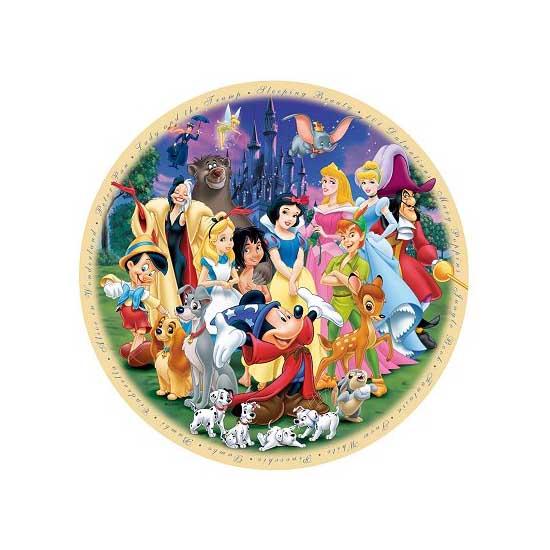 Puzzle 1000 pièces rond - Le monde merveilleux de Disney - Ravensburger-15784