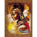 Puzzle 1000 pièces - Jeune femme africaine