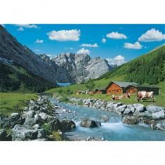 Puzzle 1000 pièces - La montagne des Karwendel, Autriche