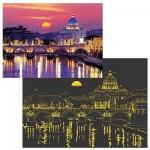 Puzzle 1000 pièces lumineux la nuit - Crépuscule sur Rome
