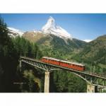 Puzzle 1000 pièces - Matterhorn canton Valais le tramway du Gornergrat