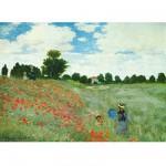 Puzzle 1000 pièces - Monet : le champ aux coquelicots