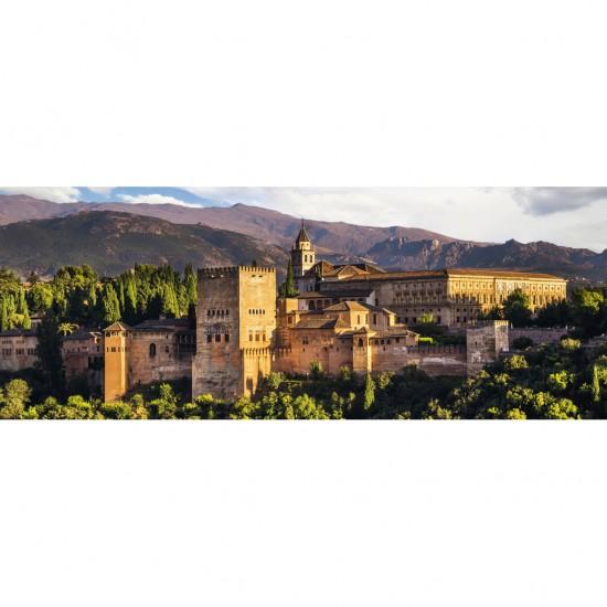 Puzzle 1000 pièces panoramique : Alhambra de Grenade - Ravensburger-15073