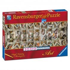 Puzzle 1000 pièces panoramique : Chapelle Sixtine
