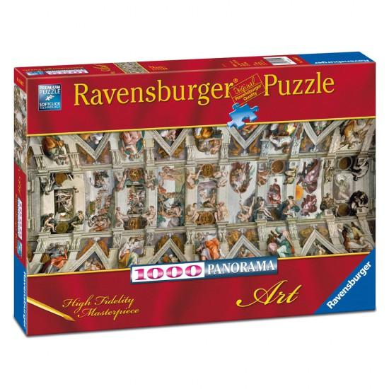 Puzzle 1000 pièces panoramique : Chapelle Sixtine - Ravensburger-15062
