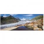 Puzzle 1000 pièces panoramique : Glacier d'Aletsch