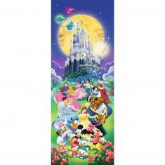 Puzzle 1000 pièces panoramique : Le château de Disney