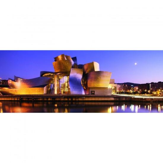 Puzzle 1000 pièces panoramique : Musée Guggenheim de Bilbao - Ravensburger-15072