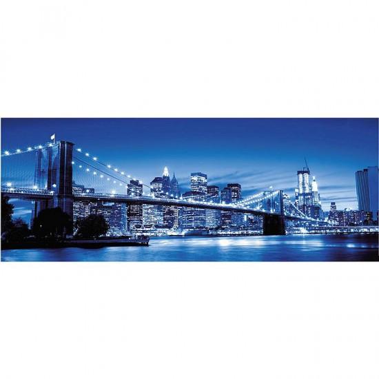 Puzzle 1000 pièces panoramique : New York illuminé - Ravensburger-15050
