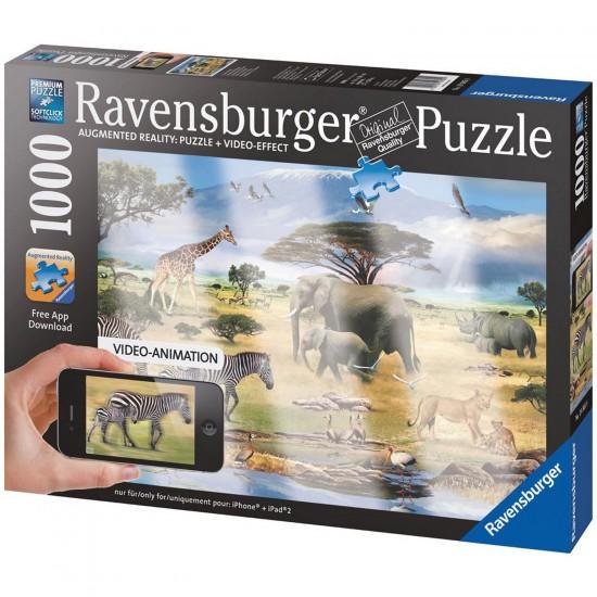 Puzzle 1000 pièces - Réalité augmentée : Animaux d'Afrique - Ravensburger-19305