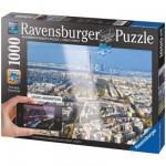 Puzzle 1000 pièces Réalité augmentée: Sur les toits de Paris
