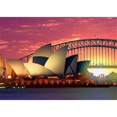 Puzzle 1000 pièces - Sydney, l'Opéra et le Harbour Bridge
